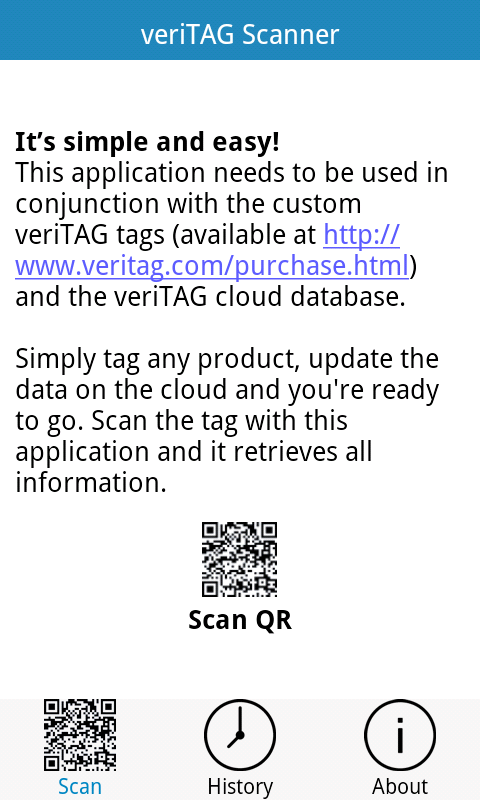 veriTAG your Products- screenshot