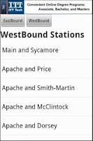 Screenshot of Phoenix Light Rail Free