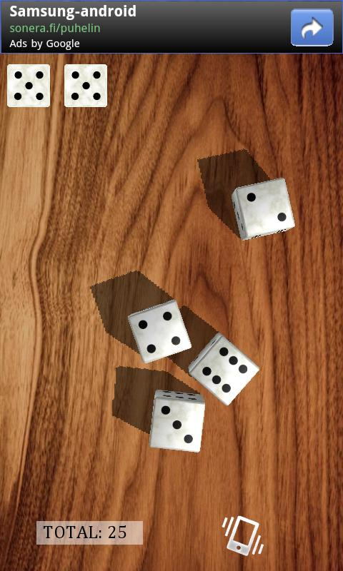 Dice​Shaker 3D- screenshot