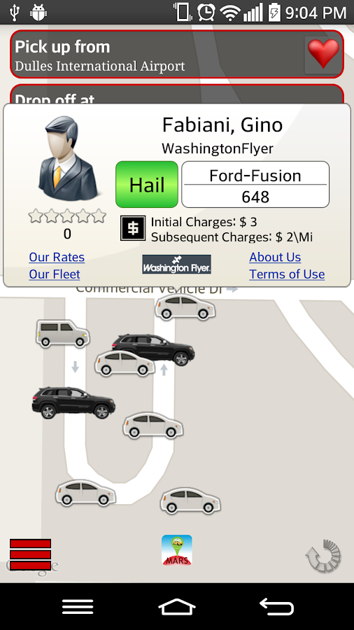 E2Taxi Booking App- screenshot