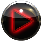 poweramp skin glow red icon