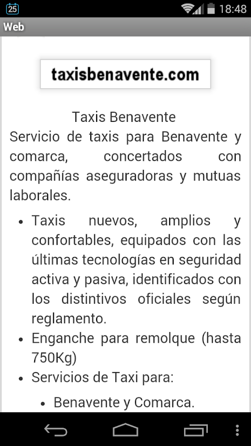 Taxis Benavente- screenshot