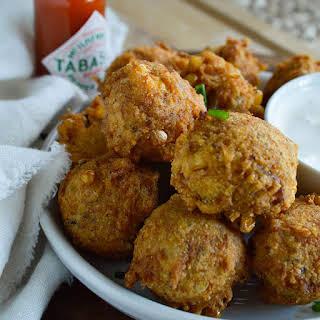 Spicy Cajun Crab Corn Fritters.