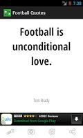 Screenshot of Football Quotes