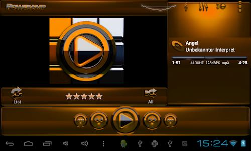Poweramp skin Black Orange v3.02