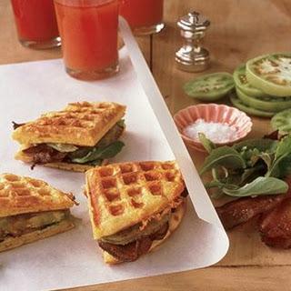 Cheddar Cornmeal Waffle BLT