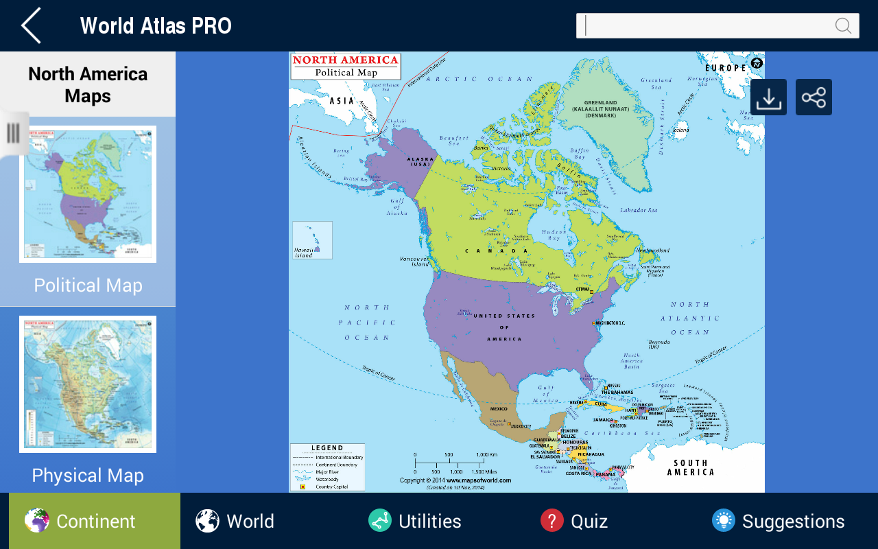 World atlas pro android apps on google play world atlas pro screenshot gumiabroncs Images