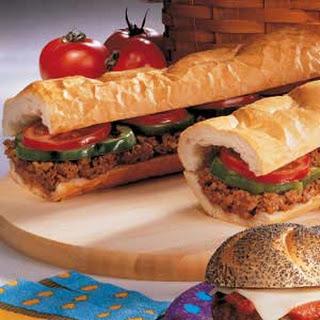 Hamburger Hoagie.