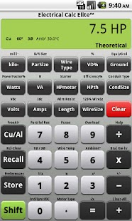 Electrical Calc Elite Electric - screenshot thumbnail