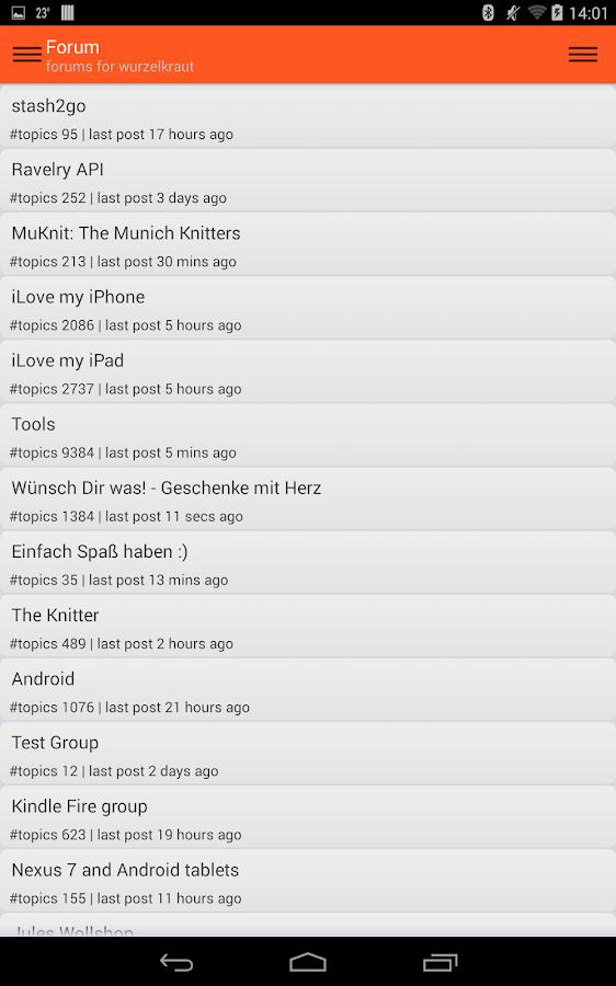 Stash2Go: Ravelry on the Go- screenshot