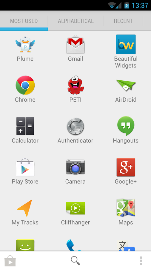 Quad Drawer, quick app drawer - screenshot