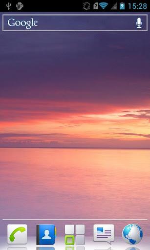 Pink sunset HD Live Wallpaper