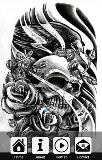 tatto의 두개골에게 그리기