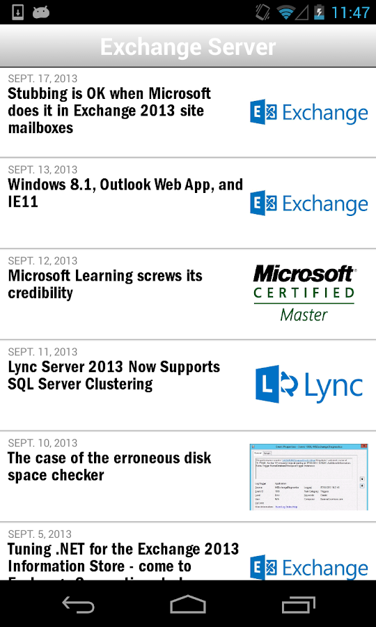 Windows IT Pro Mobile- screenshot