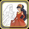 Paint Princesses magic icon