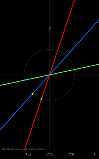 幾何時鐘動態壁紙