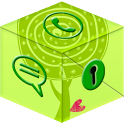 Secret Call&SMS- Green style icon