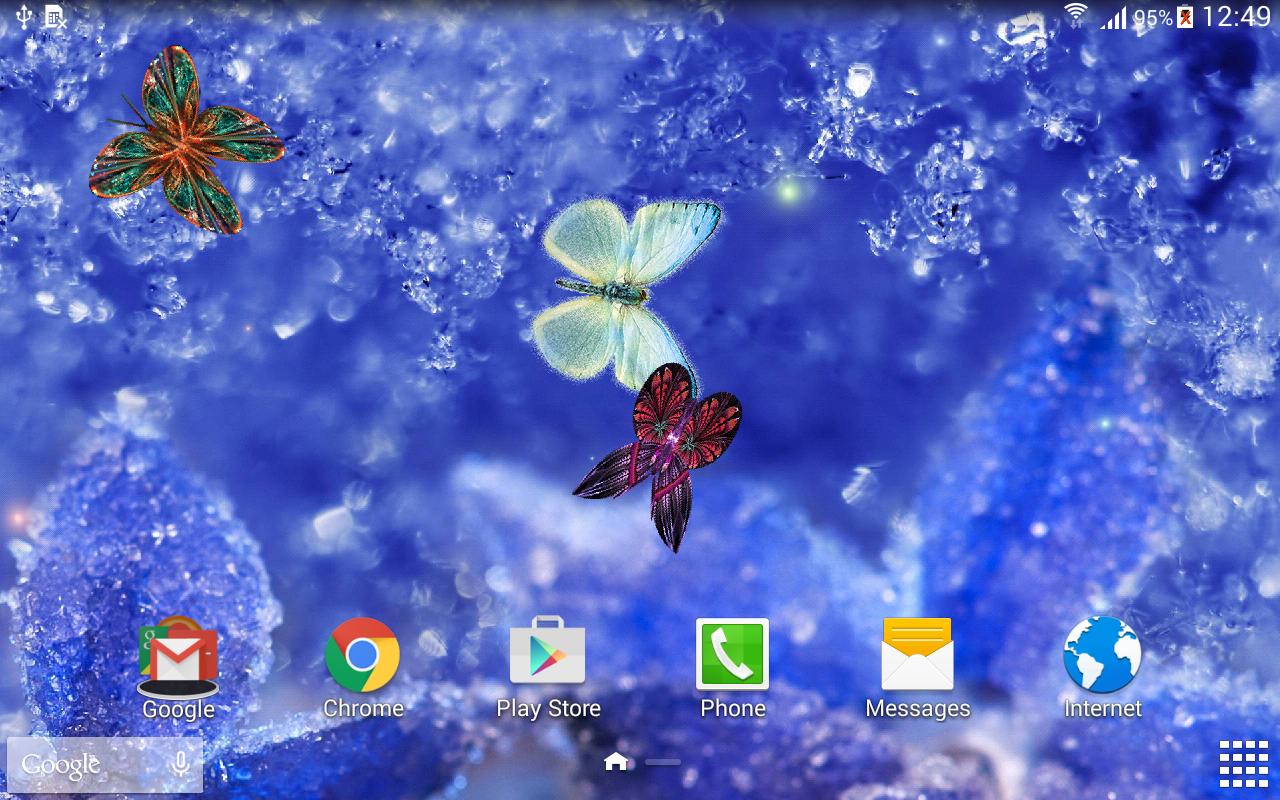 Abstract Butterflies Wallpaper