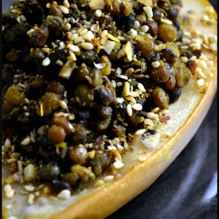 What's on the side? Baked Pear and Chi Spiced Lentil Salad