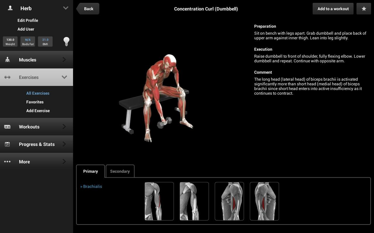 iMuscle 2 - screenshot