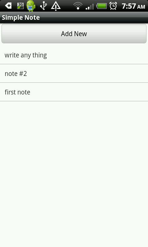 Simple Note - screenshot