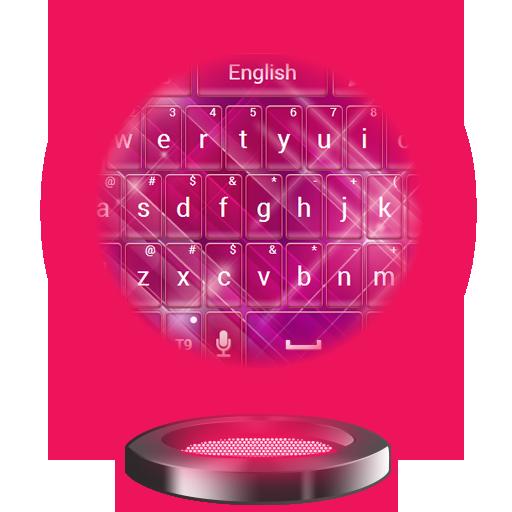 顏色粉紅色鍵盤主題 個人化 LOGO-阿達玩APP