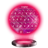 Color Pink Keyboard Theme