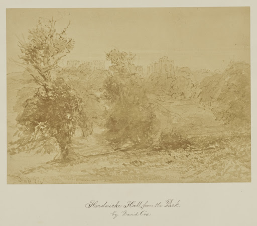 Hardwicke Hall, from the Park. by David Cox.