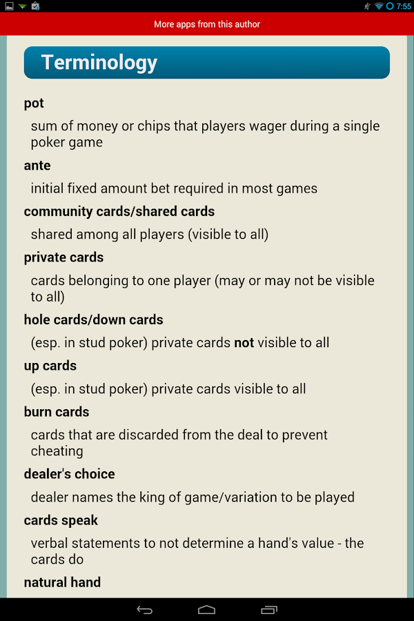 3 5 7 poker rules texas