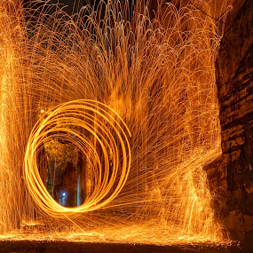 The Fortress by Saiful N. Firmansyah - Abstract Fire & Fireworks ( steelwool,  )