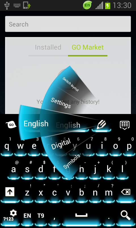 Neon Theme Keyboard Phone - screenshot