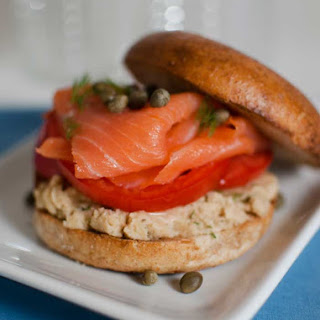 Healthy Bagel and Lox.