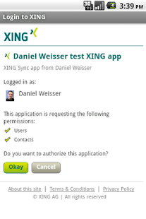XING Sync- screenshot thumbnail