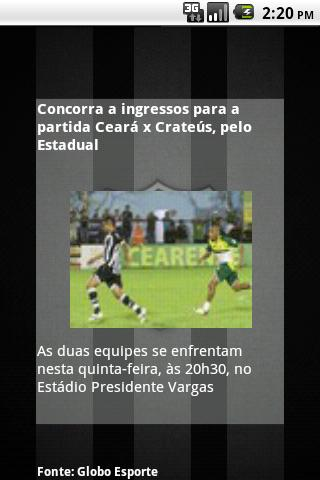 Ceará SC News [beta]: captura de tela