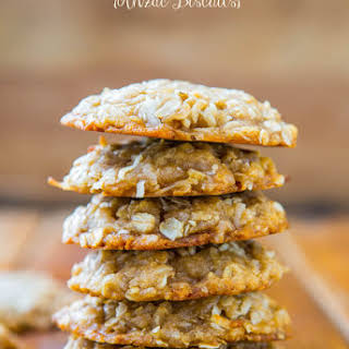 Chewy Oatmeal Coconut Brown Sugar Cookies {Anzac Biscuits}.