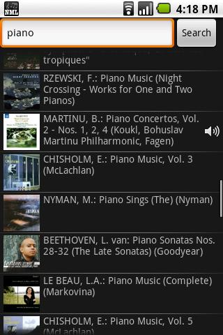 Naxos Music Library - screenshot