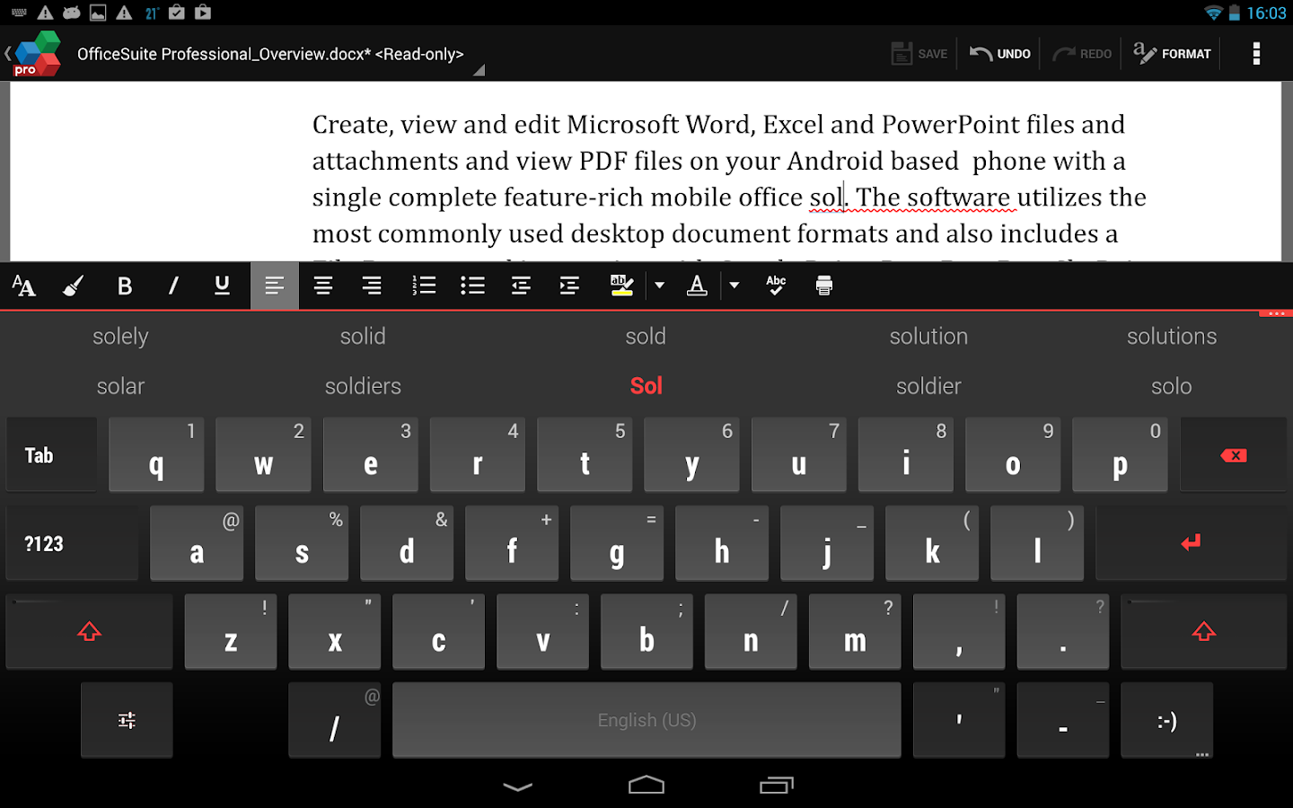 QuickWrite Keyboard FREE - screenshot