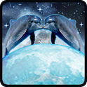 Dolphins Kiss in Moon GoLocker icon