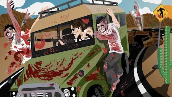 بازی رانندگی با زامبی Drive with Zombies 3D ویژه اندروید