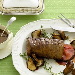 Beef Tenderloin with Mushrooms and Thyme.
