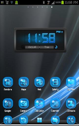 THEME - Glow Blue ICS