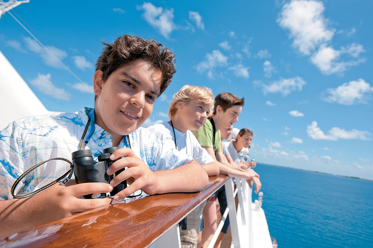 The Paul Gauguin introduces young travelers to French Polynesia's natural wonders through a program created by explorer Jean-Michel Cousteau and his Ocean Futures Society.