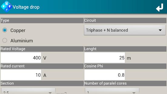 SEE Electrical Calculator V1 screenshot