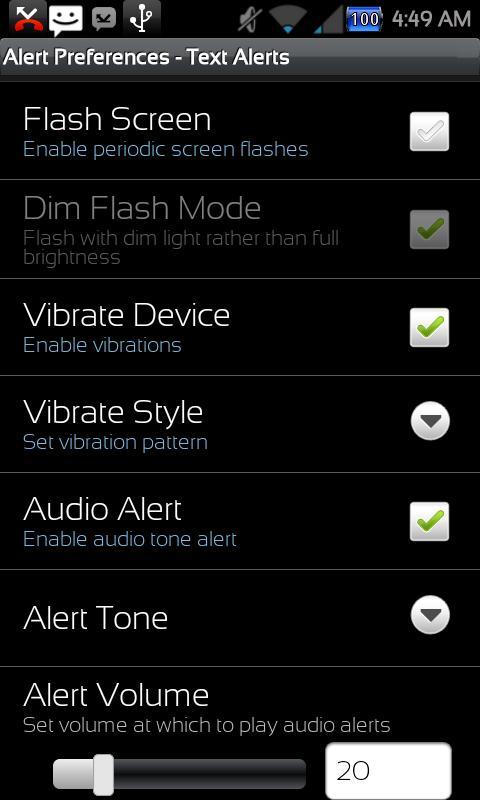 Missed Message Alerts - FOSS - screenshot