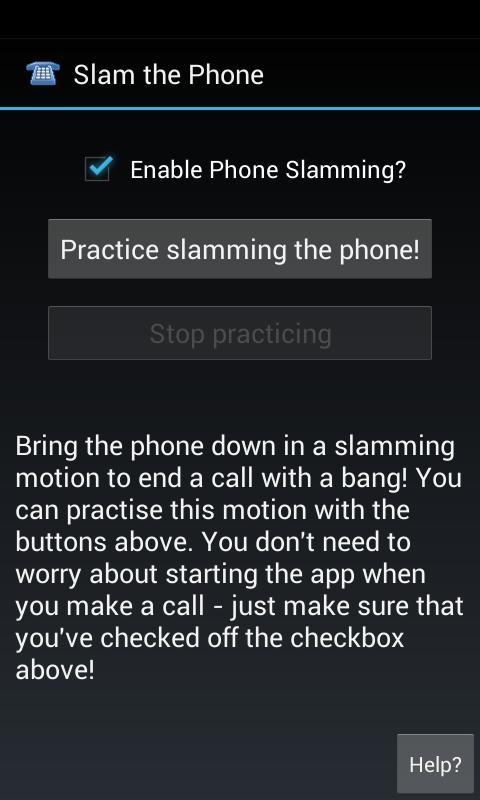 Slam the Phone- screenshot