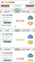Screenshot of TRADERUSH Binary Options