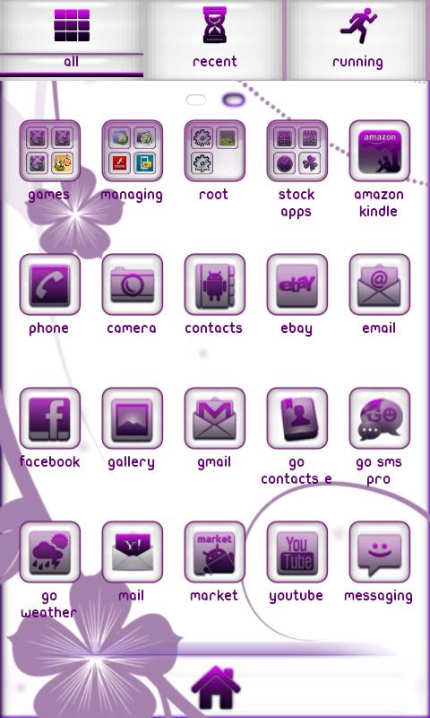 Royal Purple Go Launcher - screenshot