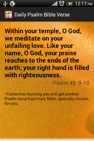 Free Daily Bible Verses Psalms