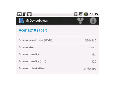 MyDeviceScreen- screenshot