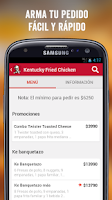 Screenshot of KFC DELIVERY CHILE